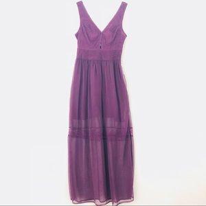Kimichi Blue plum colored summer dress